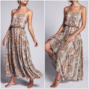 NWT FREE PEOPLE Valerie Plum Floral Maxi Dress